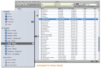 screenshot of iTunes enhanced with Simplify Media
