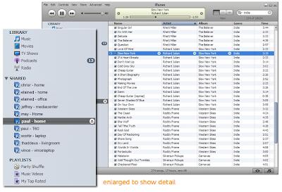 screenshot of iTunes enhanced with Simplify Media