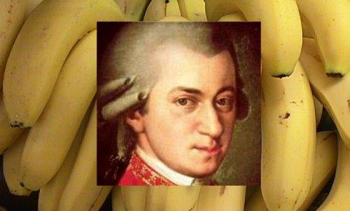 Banane slajše zaradi Mozartove glasbe?