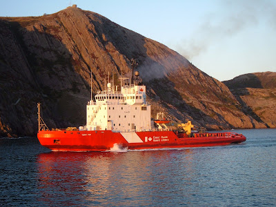 The Icebreaker Terry Fox as shown approaching St. John's Oct 12,