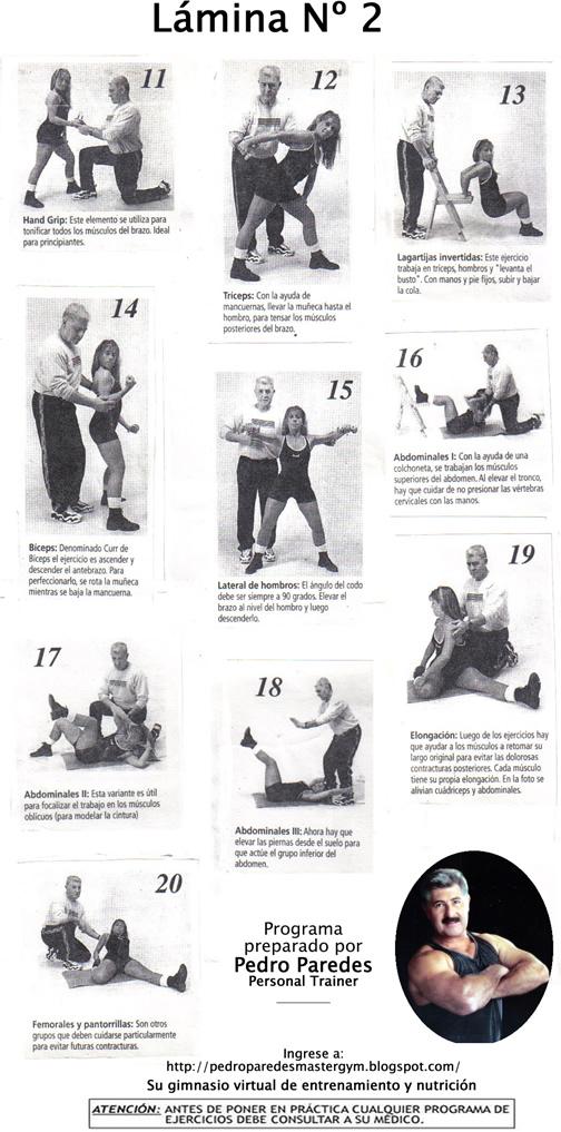 Pedro Paredes Master Gym: 28.PONGASE EN FORMA CON DIETAS Y