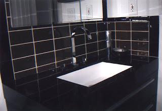 Black Glass Subway Tiles