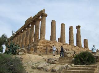 Bild 1: Nordwestseite Hera- bzw. Junotempel Agrigent