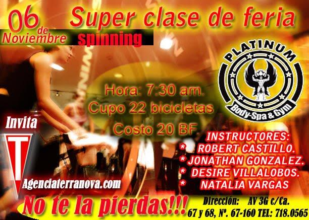 SUPER CLASE DE SPINIG EN LA  FERIA