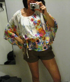 H&M garden collection flowered peasant blouse @ Fashion Herald