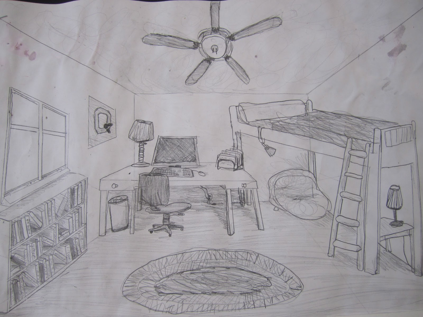 Think create art finished dream rooms 7th grade for Draw my room