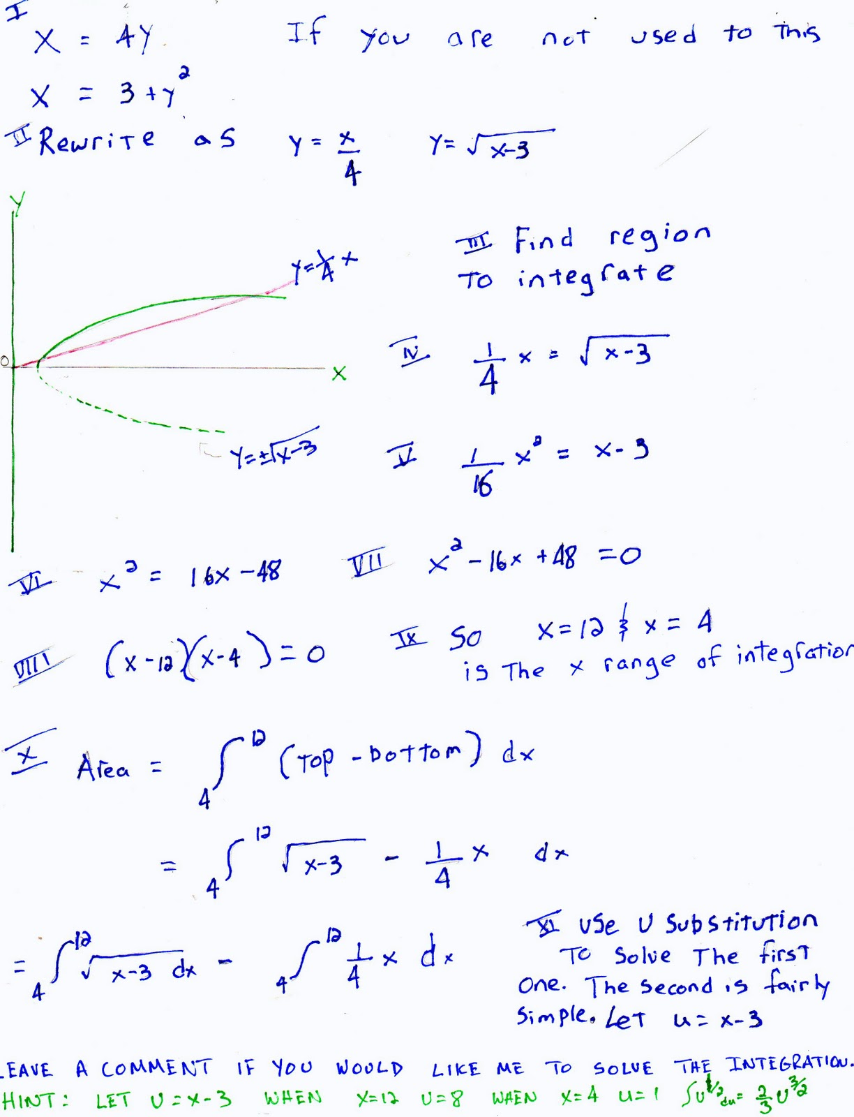 You Can Use The Definite Integral To Find The Area Between Two Curves  Simply Draw The