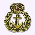ecusson patch brodé Grande couronne de la marine