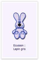 Ecusson Lapin gris Customize.fr
