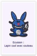 Ecusson Lapin cool Customize.fr