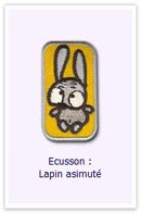 Customize.fr Ecusson Lapin azimuté