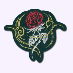ecusson, blason, patch, ecussons, customize.fr, rose