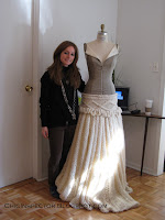 Fashion Designer Kimberley Foley Knit Ballgown