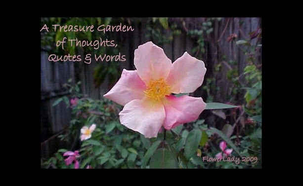A Treasure Garden of Thoughts, Quotes & Words