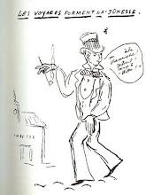 """Rimbaud dibujado por Verlaine : """"Los viajes forman la juventud..."""""""