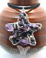 Purple Star Mosaic Necklace by Lagaz Designs