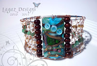 Copper Sea Bangle by Lagaz Designs
