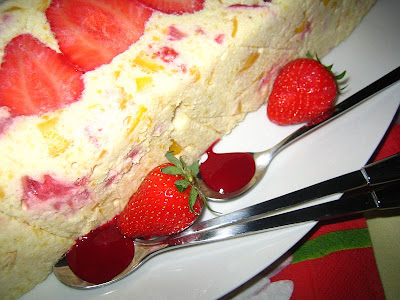 Au del des saveurs terrine fraises et mangue - Cuisine tv eric leautey ...