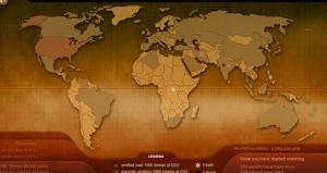 Mapa de emisiones de CO2 y de nacimientos y muertes