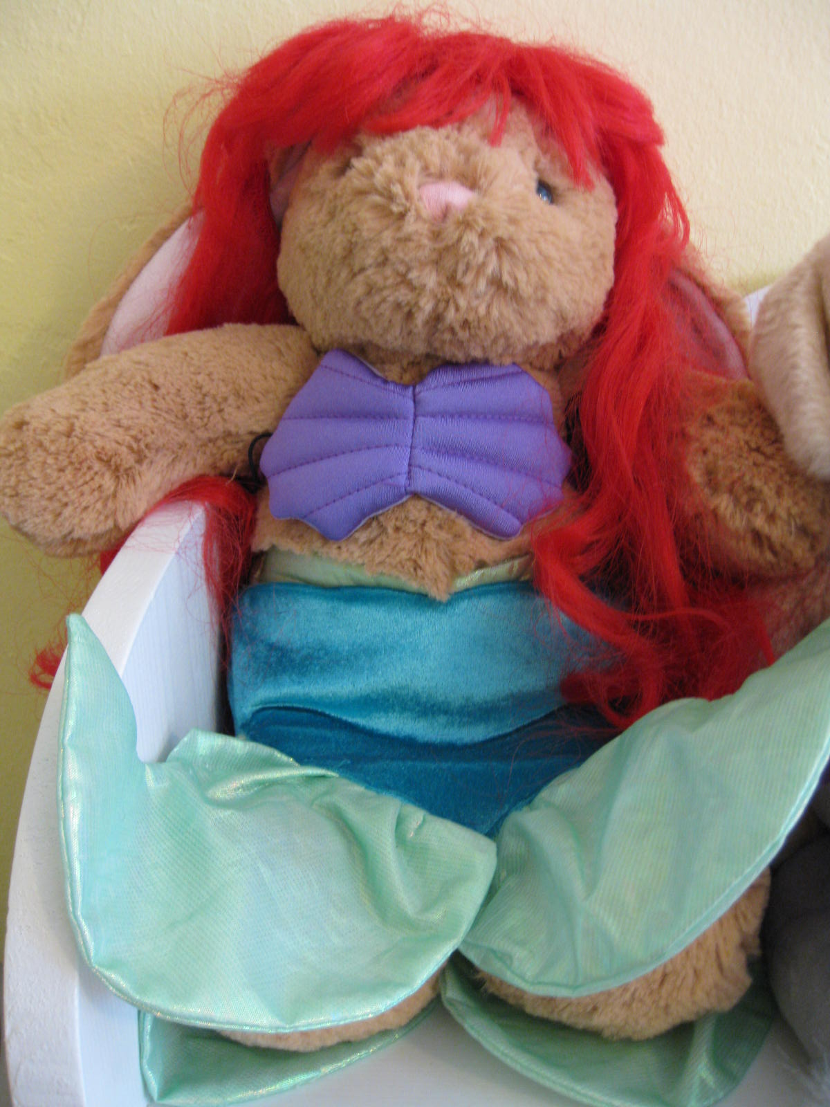 Picture%2B160 This is my little sister's bunny dressed in a Little Mermaid outfit.