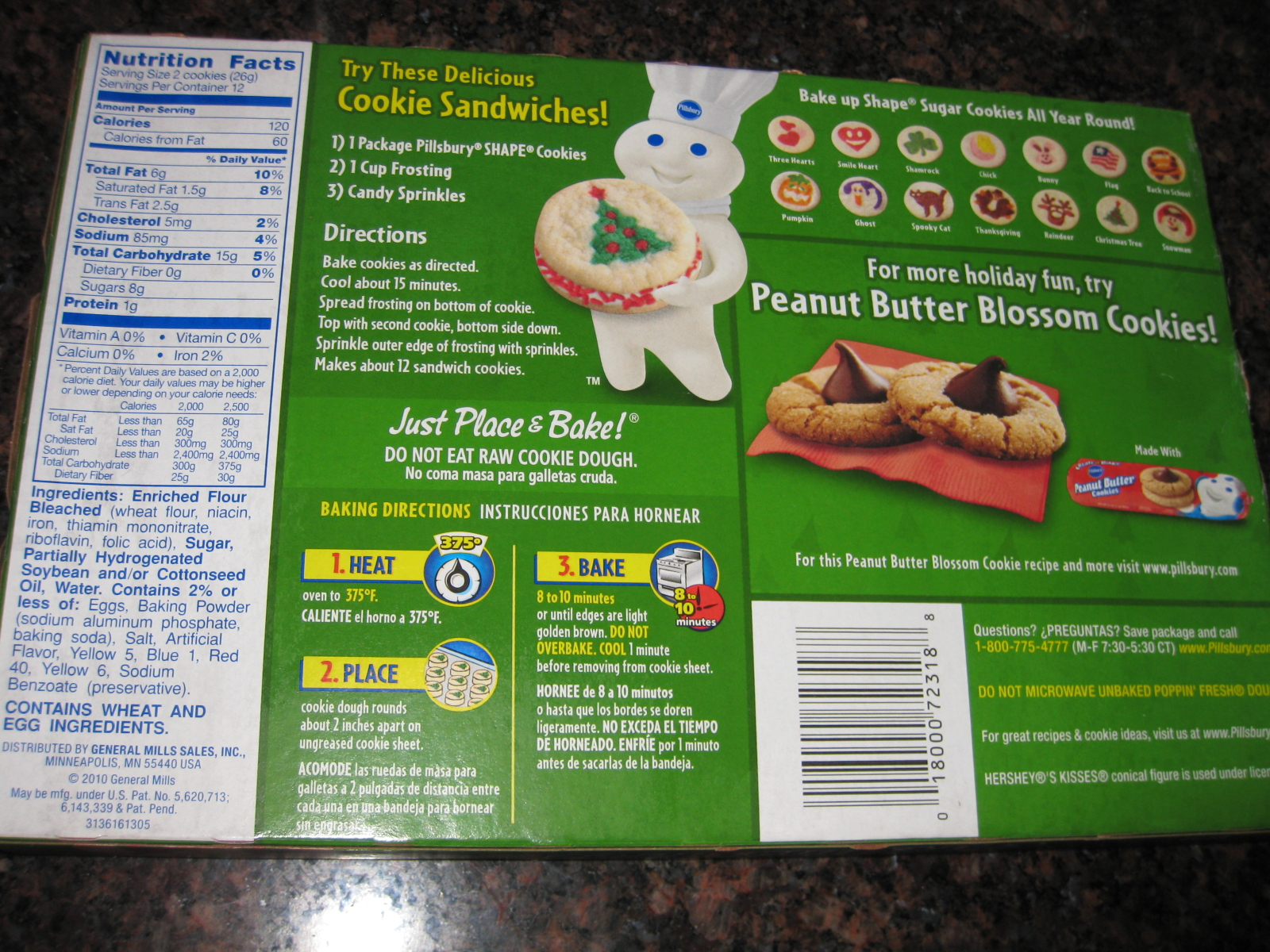 Pillsbury ready to bake christmas tree cookies - Сhristmas day special
