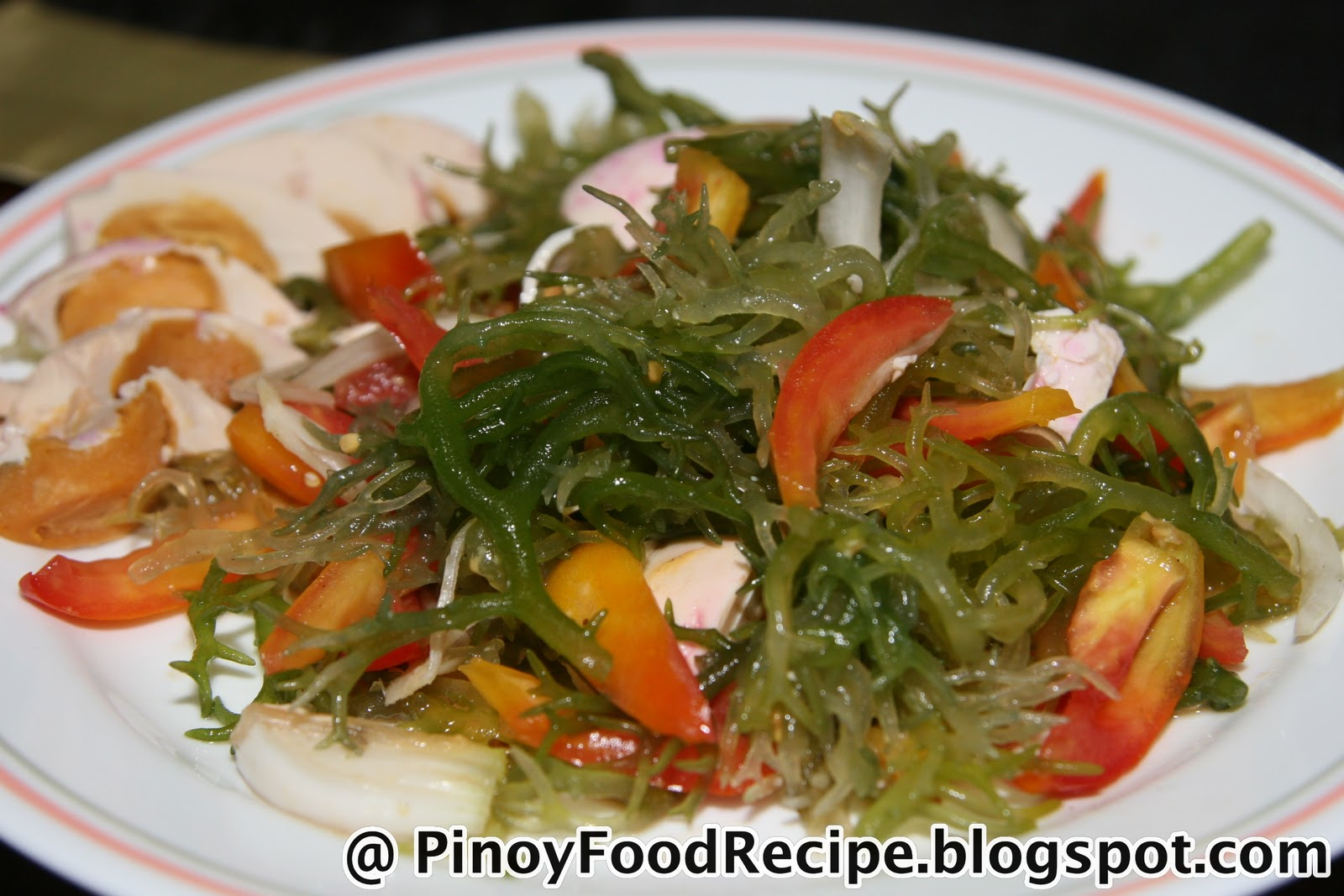 Seaweeds Salad With Salted Eggs