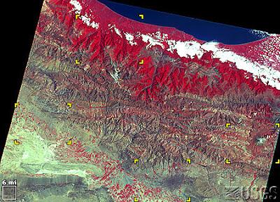 Elburz Mountains On Map