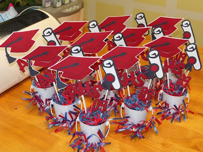 Ten centerpieces for Meg's Graduation Party