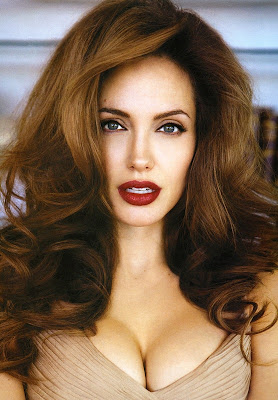 angelina jolie rare look