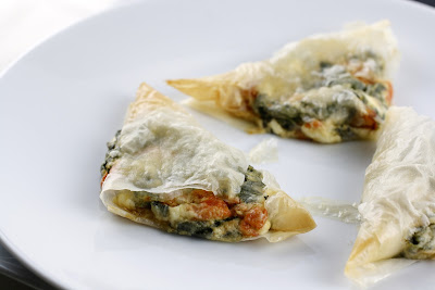 Spinach Cheese Triangles