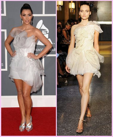 Kardashian Superstar Part on Kim Kardashian In Toni Maticevski Spring 2009