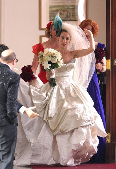 vivienne westwood wedding dress sex and the city movie. Carrie Bradshaw#39;s wedding