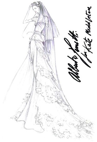 kate middleton wedding dress sketch. In Kate I see the natural,