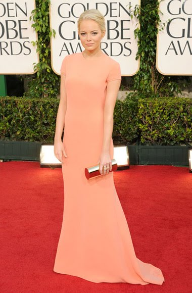 emma stone golden globes dress 2011. 2011 Golden Globe Awards P1