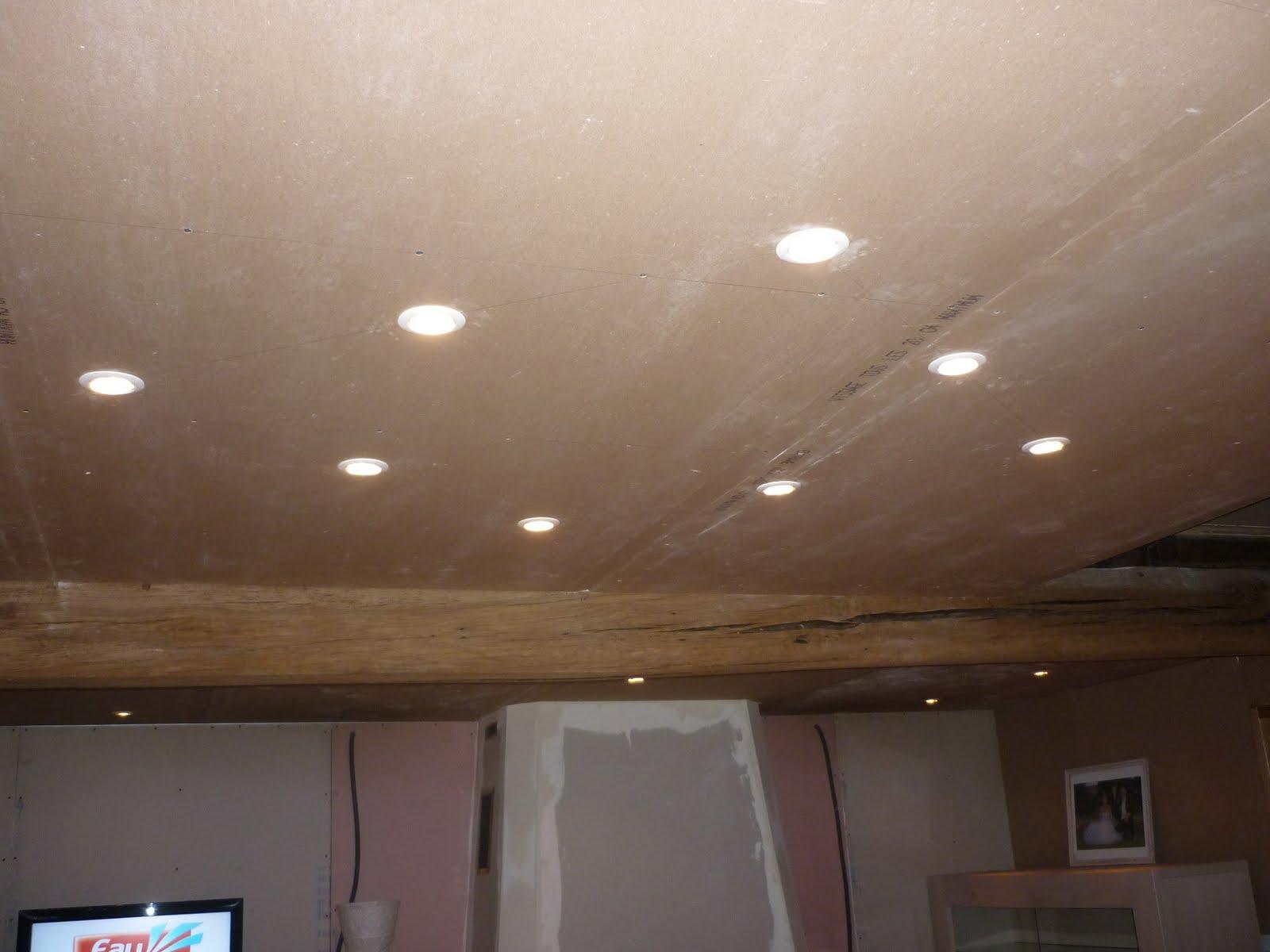 Faux plafond salle de bain spot for Renover plafond salle de bain