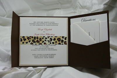 Leopard Print Pocket Fold