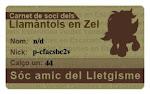 Carnet de soci dels Llamàntols en Zel