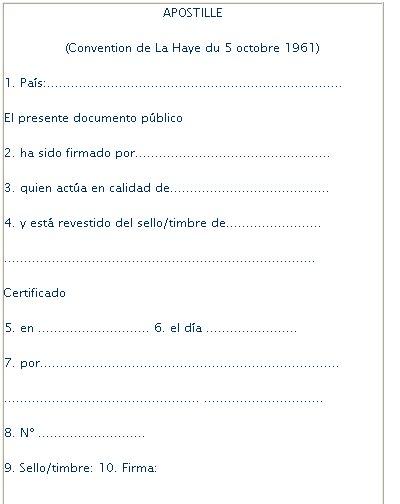 legalizacion para documentos publicos: