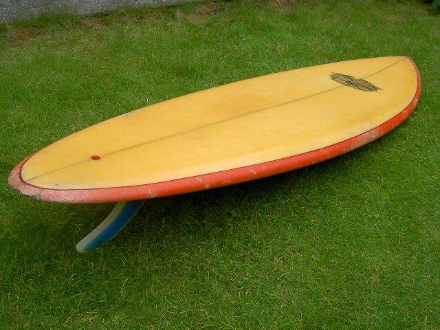 surfin estate blog surf culture fashion mode trend art vitamin sea surfboards vintage surfboard single fin from the 70's arthur nelli vincent lemanceau
