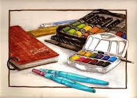 Lisa B drawing day