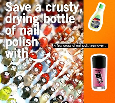 makeup tips,makeup and beatu blog,karen,save old nail polish