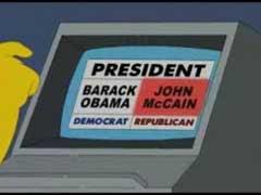 Los Simpson y la política estadounidense