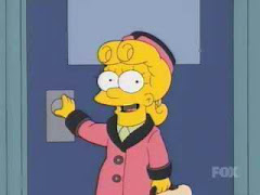 Lisa parodia a Eva Perón