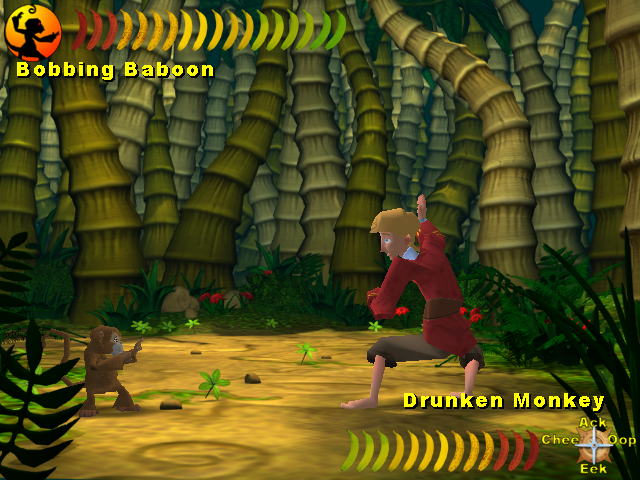 Doing Monkey Kombat with a monkey