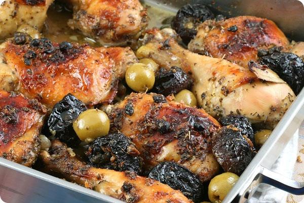 chicken marbella serves 10 12 4 chickens 2 5 lb each quartered 1 head ...
