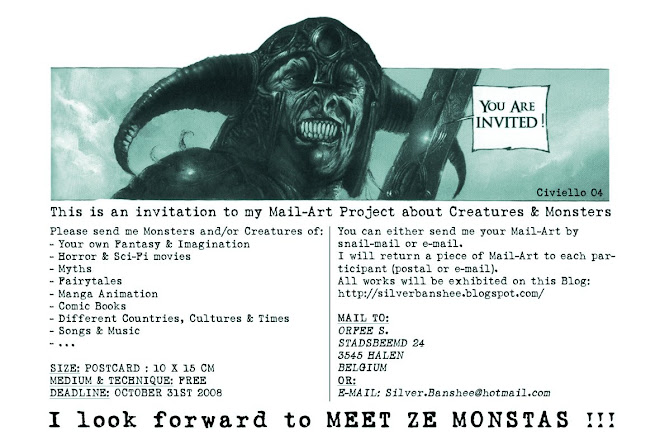 Mail-Art Project Creatures & Monsters
