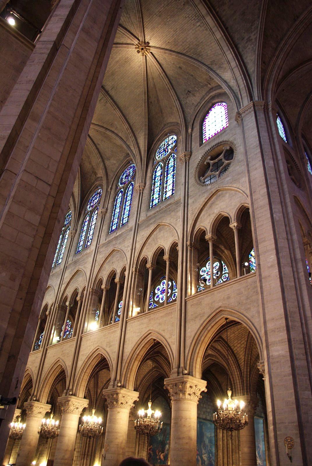 Arch Notre Dame De Paris Paris France 13th Century