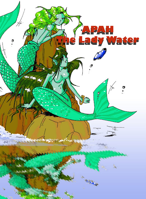apah, lady water, air, komik indonesia