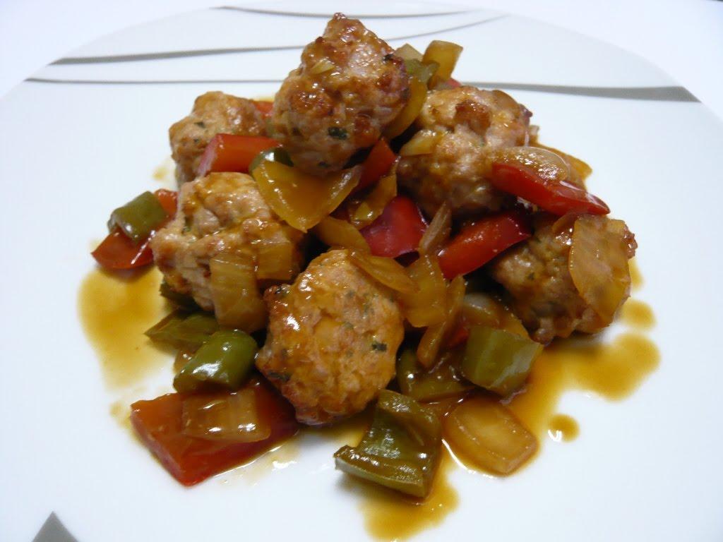 La cocina sana de mery albondigas con salsa agridulce y for Albondigas de verduras