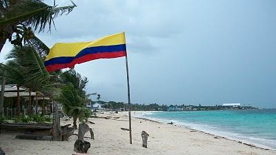 Bandera de Colombia en Isla San Andrés